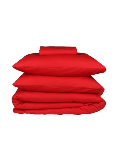 Helen George Basic Kırmızı Tek Kişilik Nevresim Takımı Kırmızı